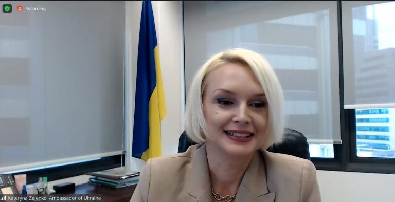 Ambassador of Ukraine to the Republic of Singapore Kateryna Zelenko