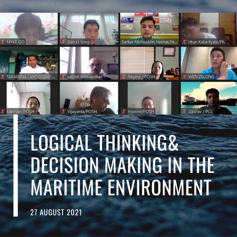 Logical thinking decision making in the maritime environment